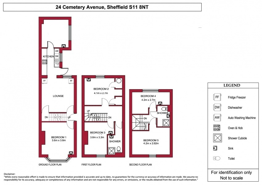 Floor plan for 24 Cemetery Avenue, Ecclesall Road