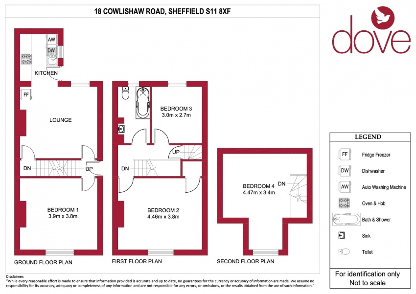 Floor plan for 18 Cowlishaw Road, Ecclesall Road