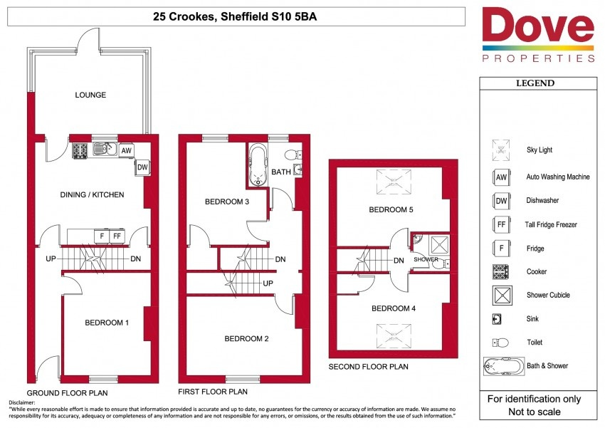 Floor plan for 25 Crookes Road, Broomhill