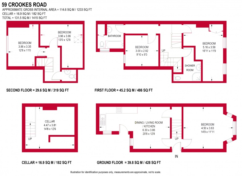 Floor plan for 59 Crookes Road, Broomhill