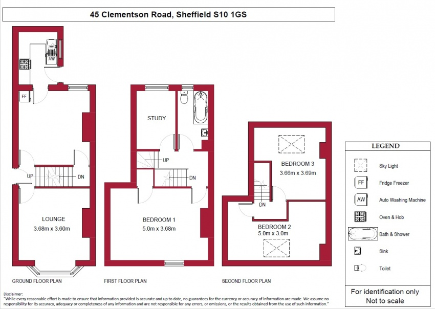Floor plan for 45 Clementson Road, Crookes