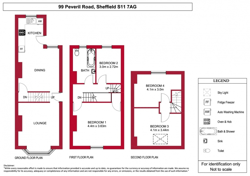 Floor plan for 99 Peveril Road, Hunters Bar