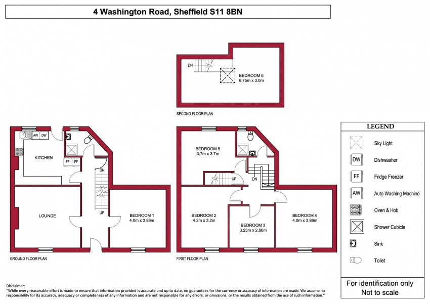 Floor plan for 4 Washington Road, Ecclesall Road