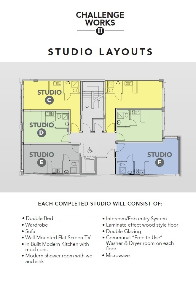Floor plan for Studio 36, Challenge Works, Arundel Street - City Centre