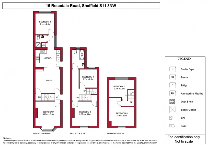 Floor plan for 16 Rosedale Road, Ecclesall Road