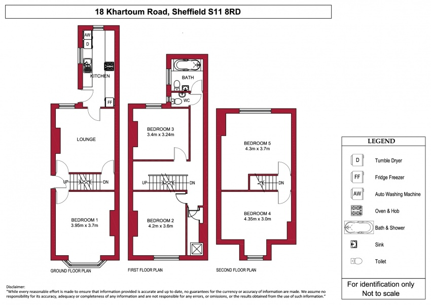 Floor plan for 18 Khartoum Road, Ecclesall Road
