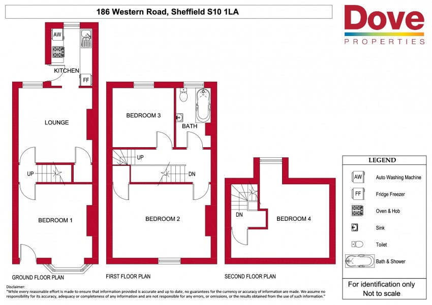 Floor plan for 186 Western Road, Crookes