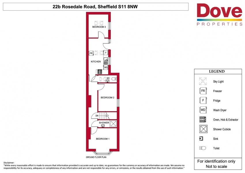 Floor plan for 22B Rosedale Road, Ecclesall Road