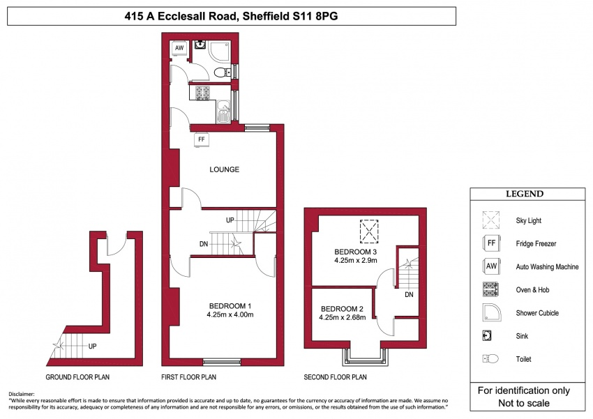 Floor plan for 415a Ecclesall Road, Ecclesall Road