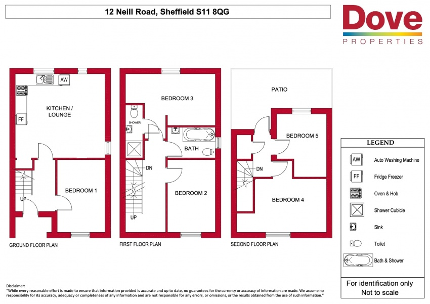 Floor plan for 10 Neill Road, Ecclesall Road