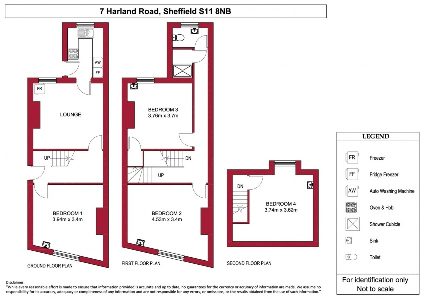 Floor plan for 7 Harland Road, Ecclesall Road