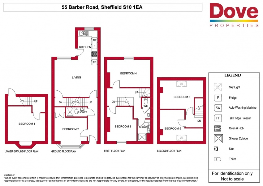 Floor plan for 55 Barber Road, Crookesmoor