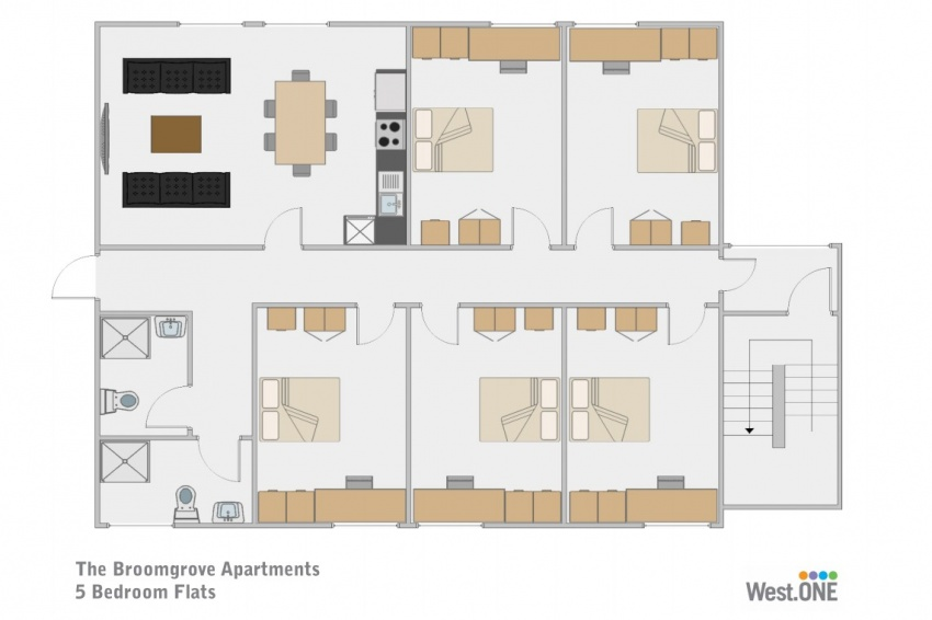 Floor plan for Broomgrove Apartments, 9 Broomgrove Road, Ecclesall Road