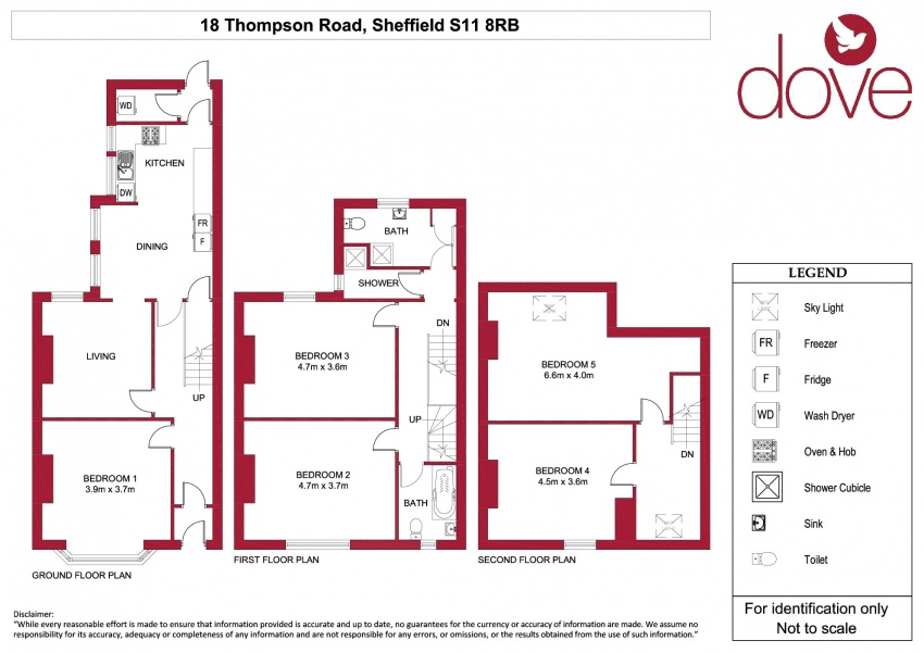 Floor plan for 18 Thompson Road, Ecclesall Road