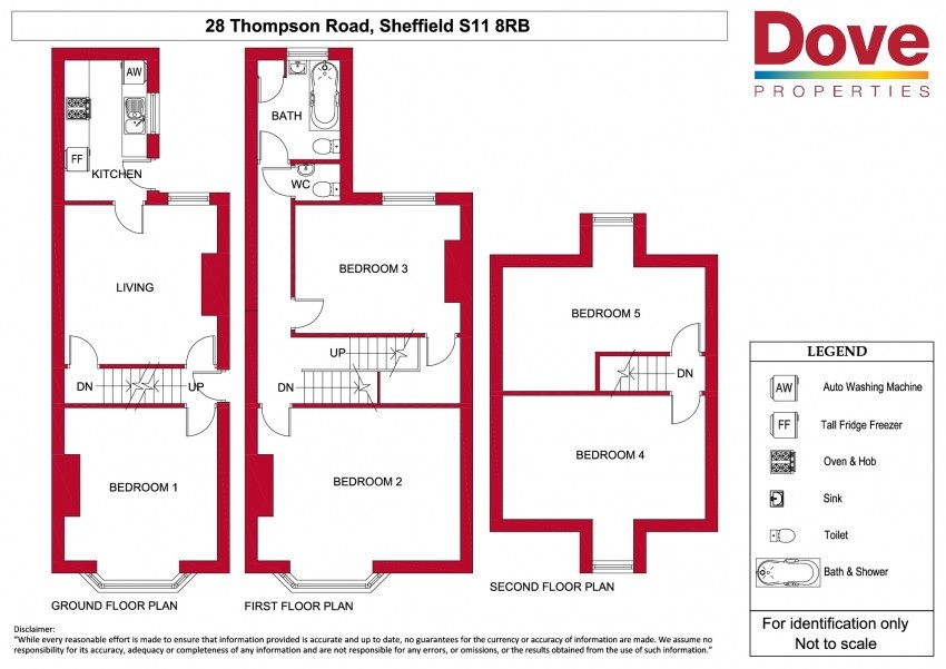 Floor plan for 28 Thompson Road, Ecclesall Road