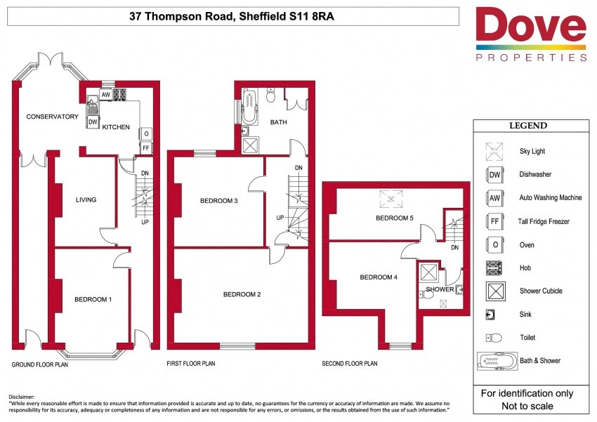 Floor plan for 37 Thompson Road, Ecclesall Road