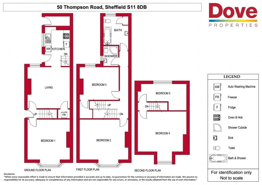 Floor plan for 50 Thompson Road, Ecclesall Road