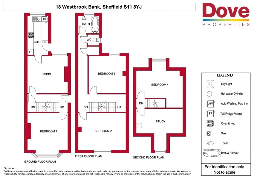 Floor plan for 18 Westbrook Bank, Ecclesall Road