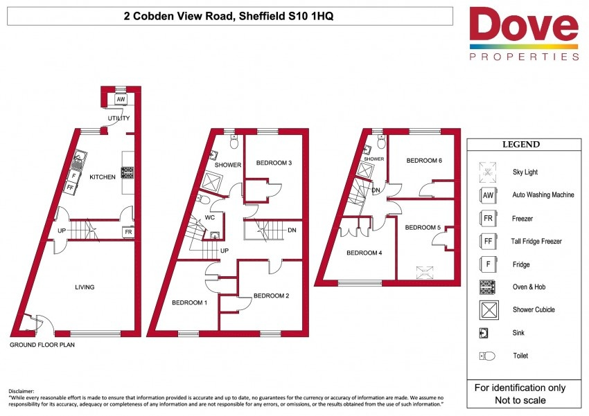 Floor plan for 2 Cobden View Road, Crookes