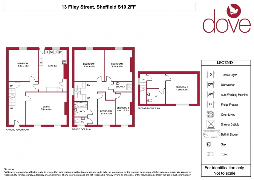 Floor plan for 13 Filey Street, Broomhall