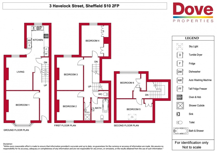 Floor plan for 3 Havelock Street, Broomhall