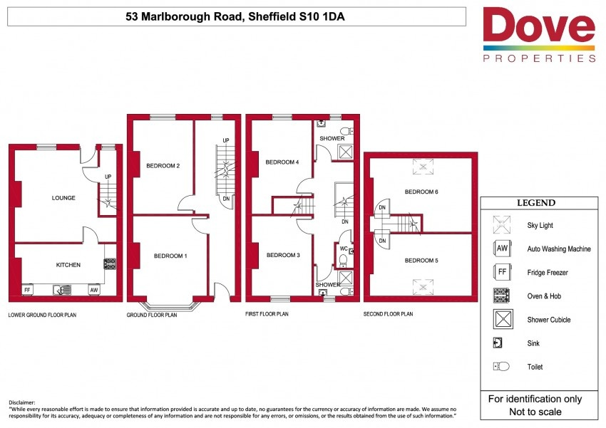 Floor plan for 53 Marlborough Road, Crookesmoor