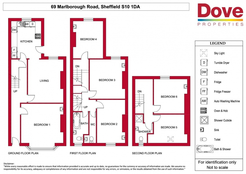 Floor plan for 69 Marlborough Road, Crookesmoor