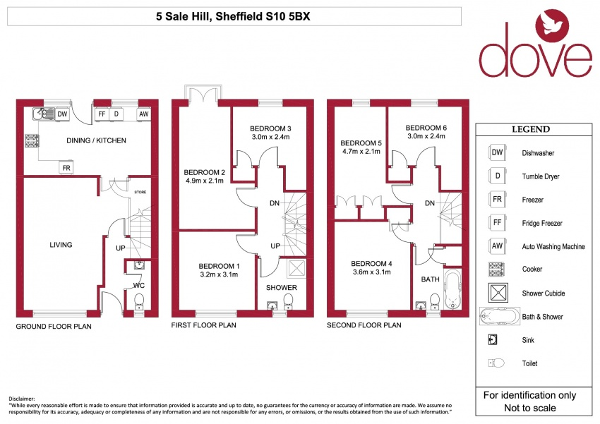 Floor plan for 5 Sale Hill, Broomhill