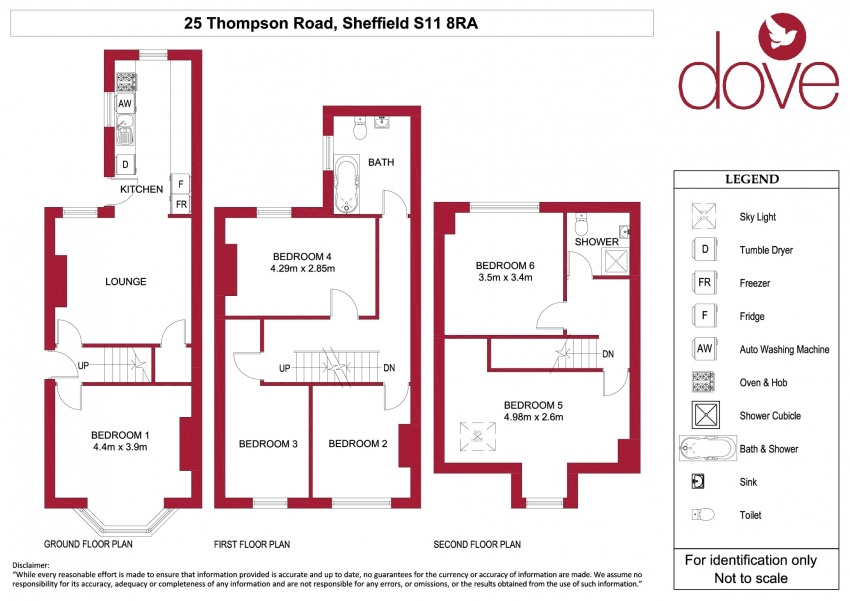 Floor plan for 25 Thompson Road, Ecclesall Road