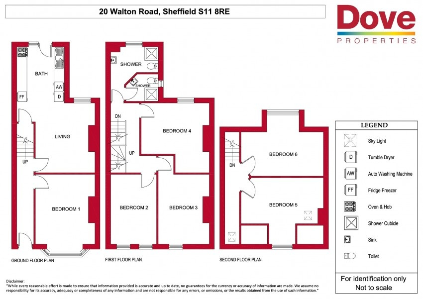 Floor plan for 20 Walton Road, Ecclesall Road