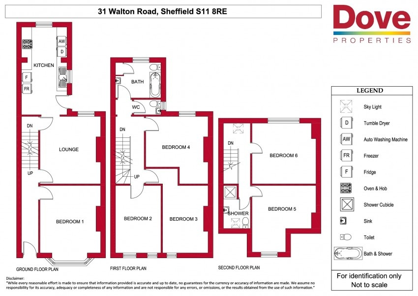 Floor plan for 31 Walton Road, Ecclesall Road