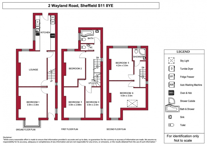 6 bed property to let s11 8ye dove properties for Sheffield floor plan