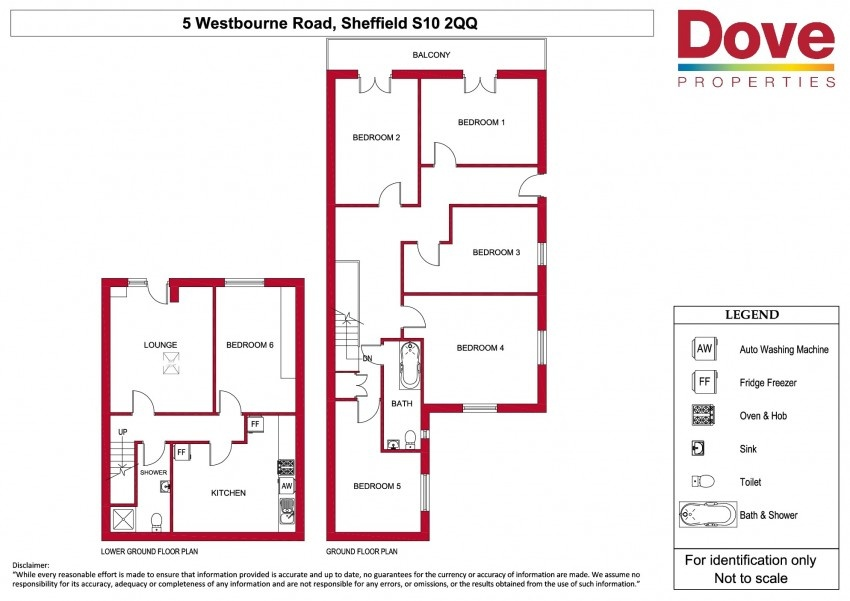 Floor plan for 5 Westbourne Road, Broomhill