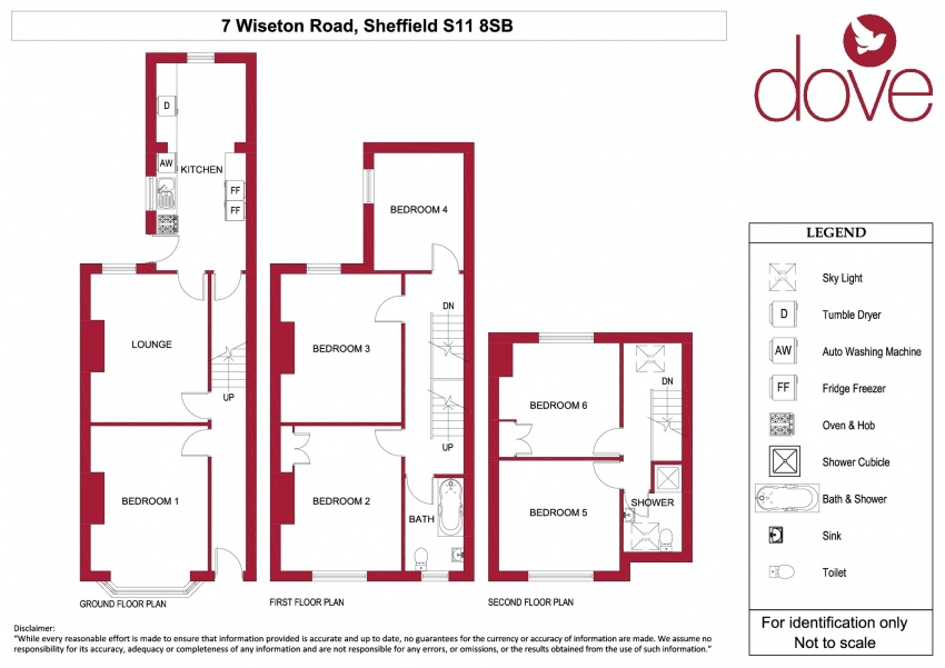 Floor plan for 7 Wiseton Road, Hunters Bar