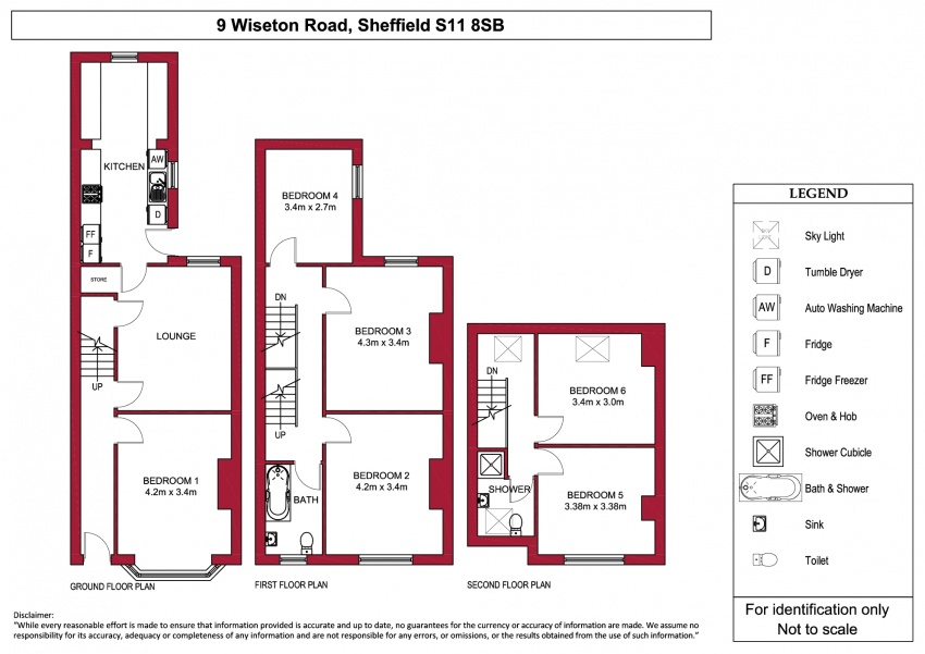 Floor plan for 9 Wiseton Road, Hunters Bar
