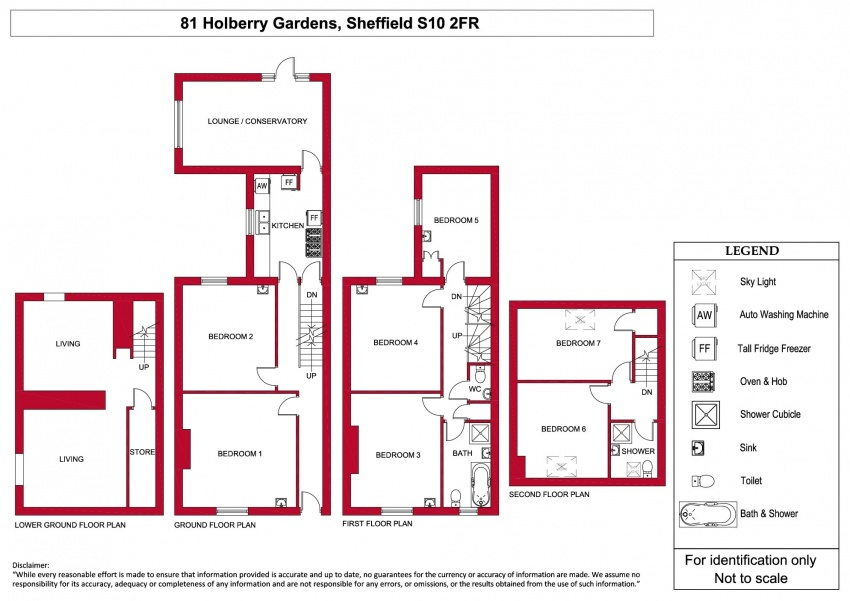 Floor plan for 81 Holberry Gardens, Broomhall