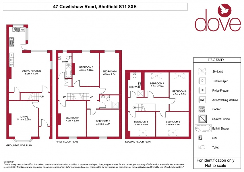 Floor plan for 47 Cowlishaw Rd, Ecclesall Road
