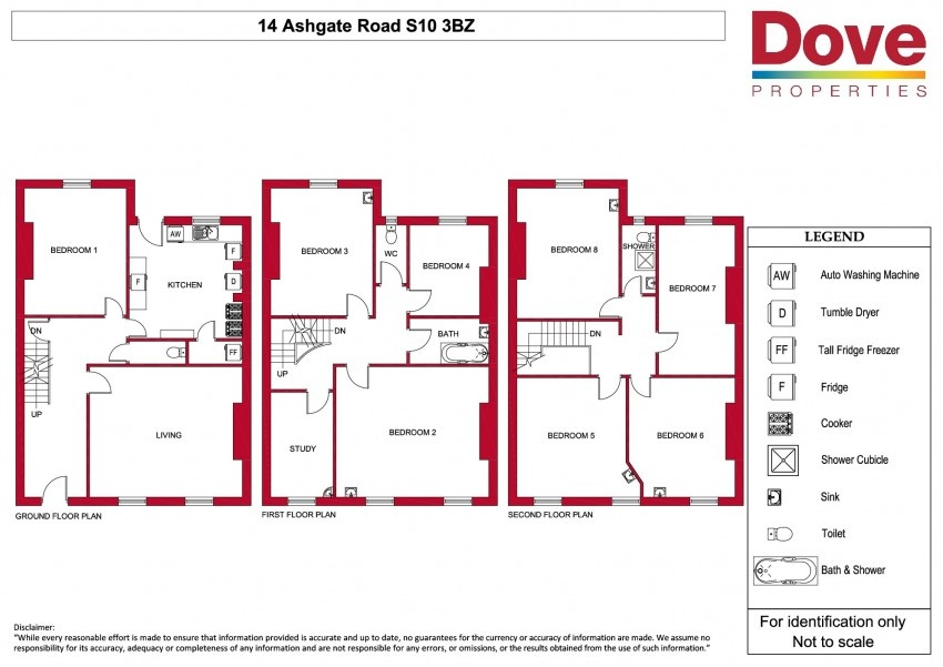 Floor plan for 14 Ashgate Road, Broomhill