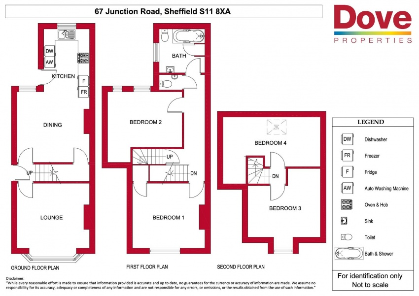 Floor plan for 67 Junction Rd, Hunters Bar