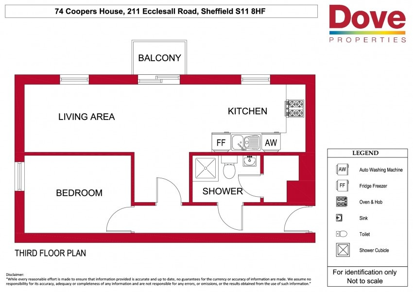 Floor plan for 74 Coopers  House, Ecclesall Road