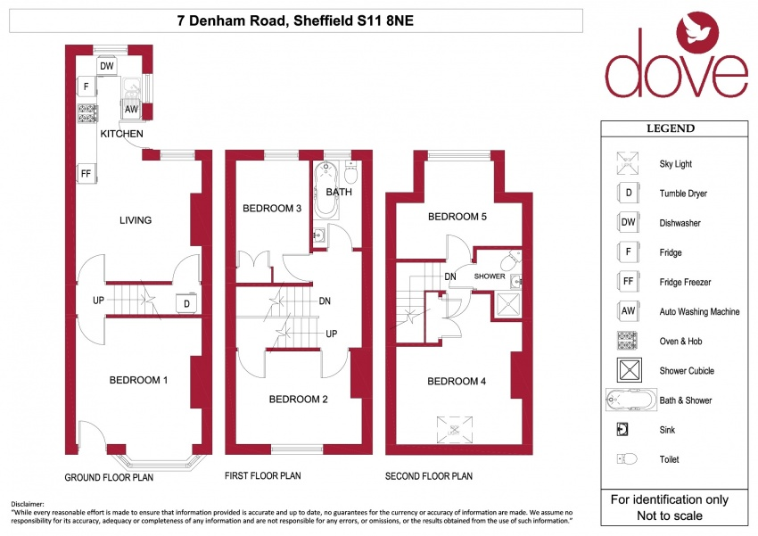 Floor plan for 7 Denham Road, Ecclesall Road