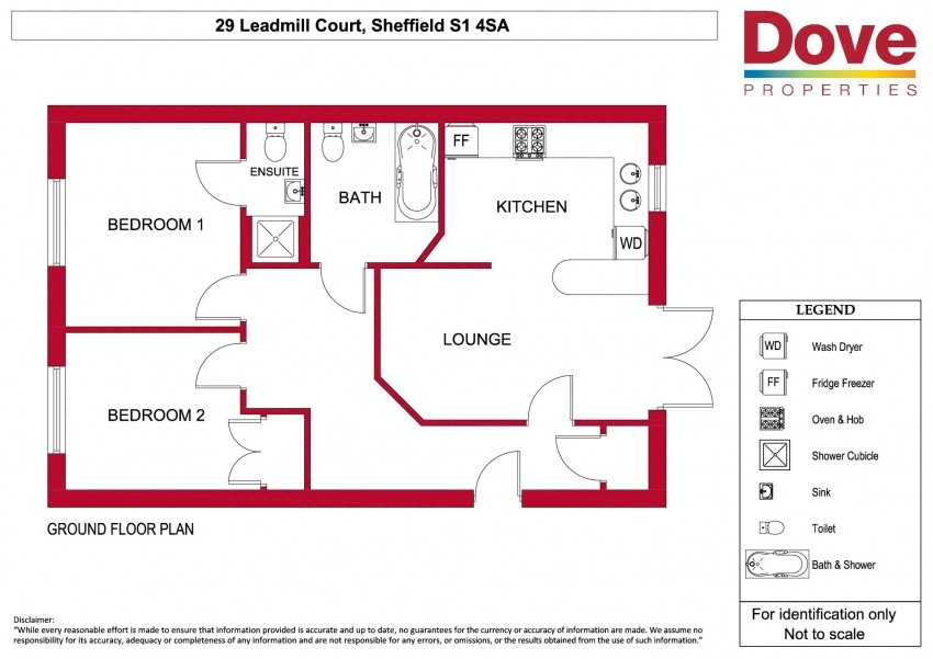 2 bed property to let s1 4sa dove properties for Sheffield floor plan