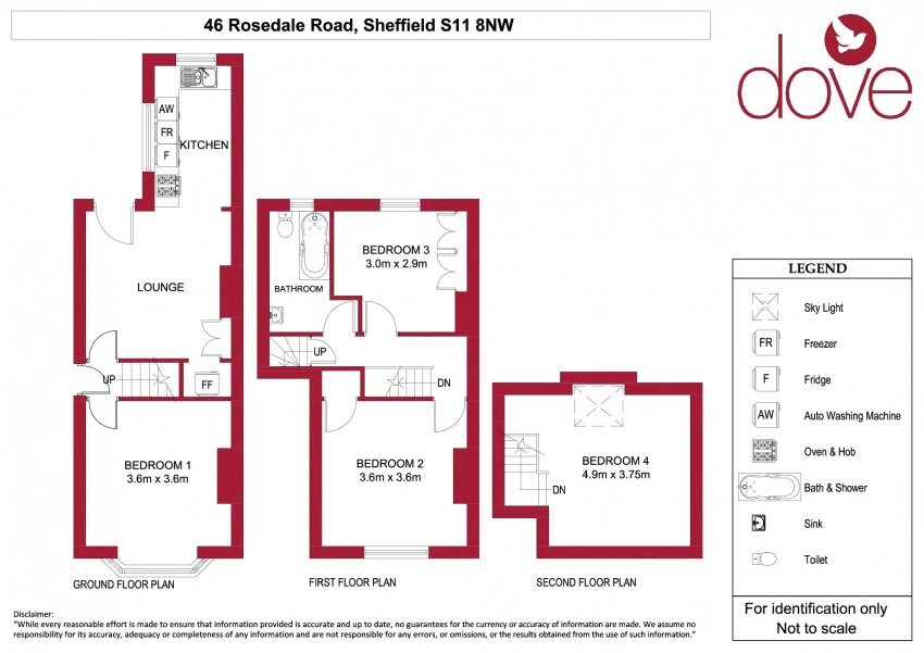 Floor plan for 46 Rosedale Rd, Ecclesall Road