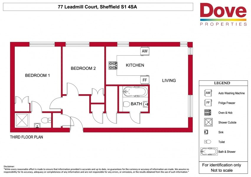 Floor plan for 77 Leadmill Court, City Centre