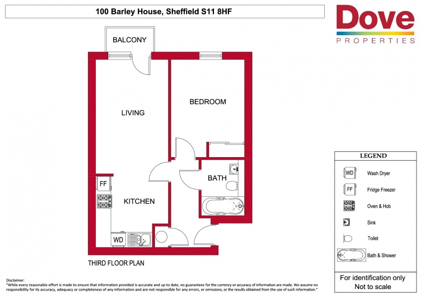 Floor plan for 100 Barley House, Ecclesall Road