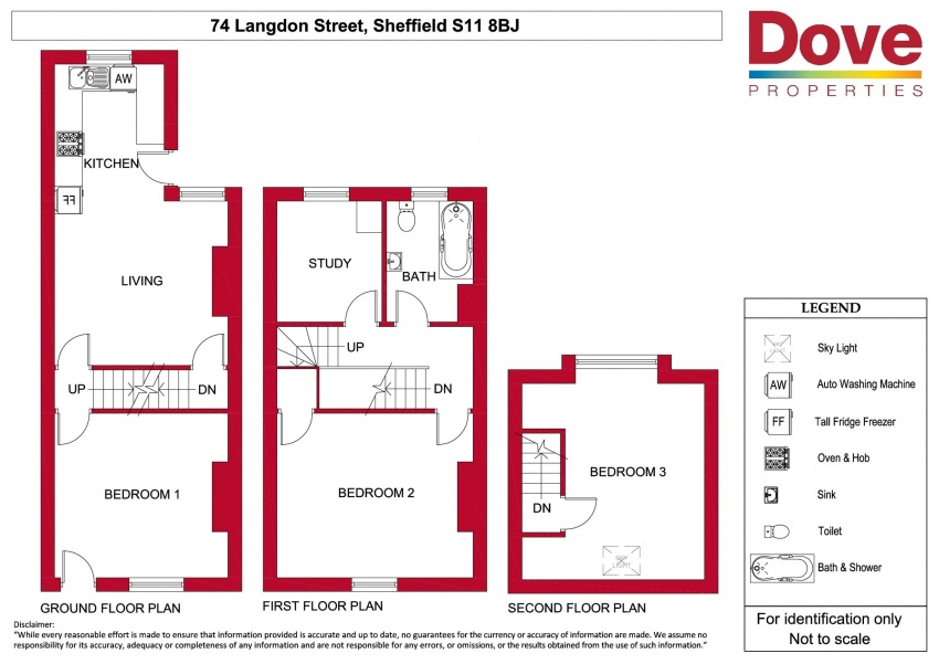 Floor plan for 74 Langdon St, Ecclesall Road
