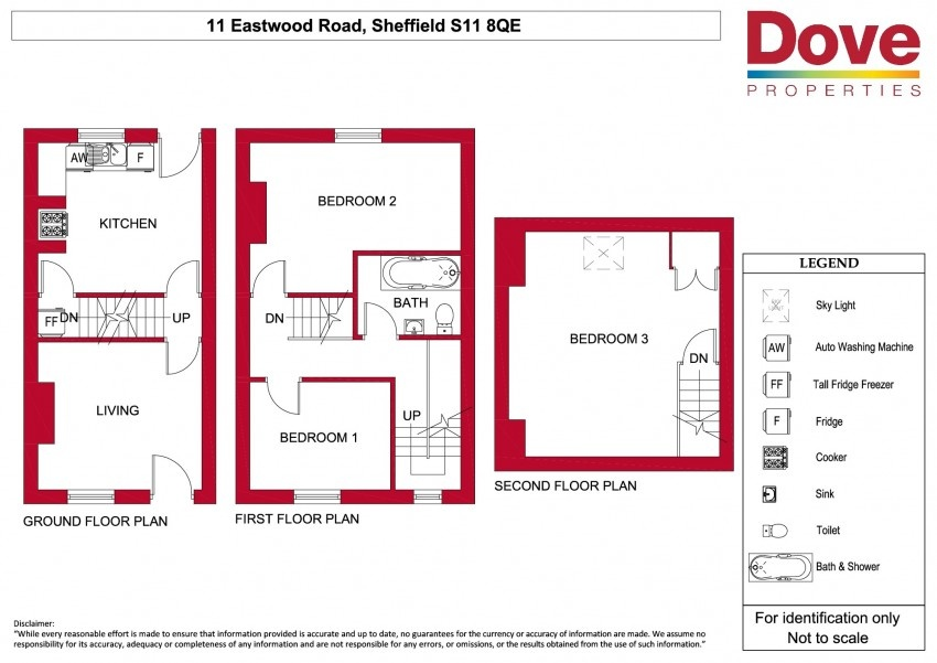 Floor plan for 11 Eastwood Rd, Ecclesall Road