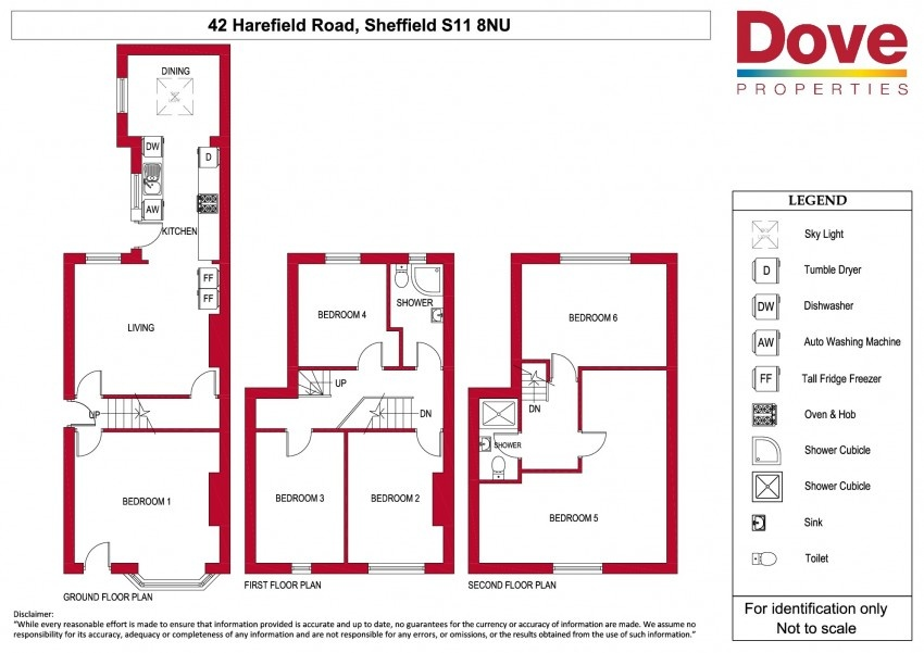 Floor plan for 42 Harefield Road, Ecclesall Road