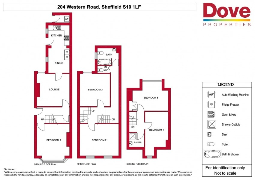 Floor plan for 204 Western Road, Crookes