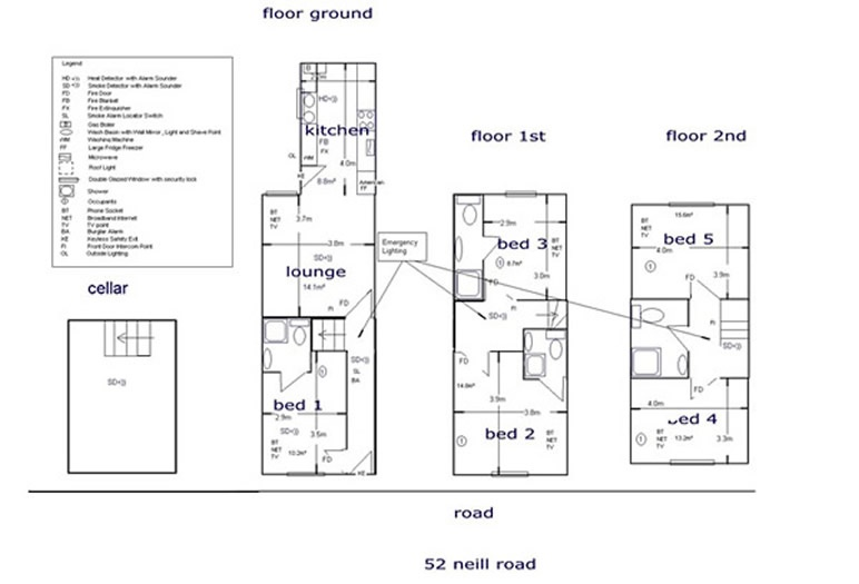 Floor plan for 52 Neill Road, Ecclesall Road